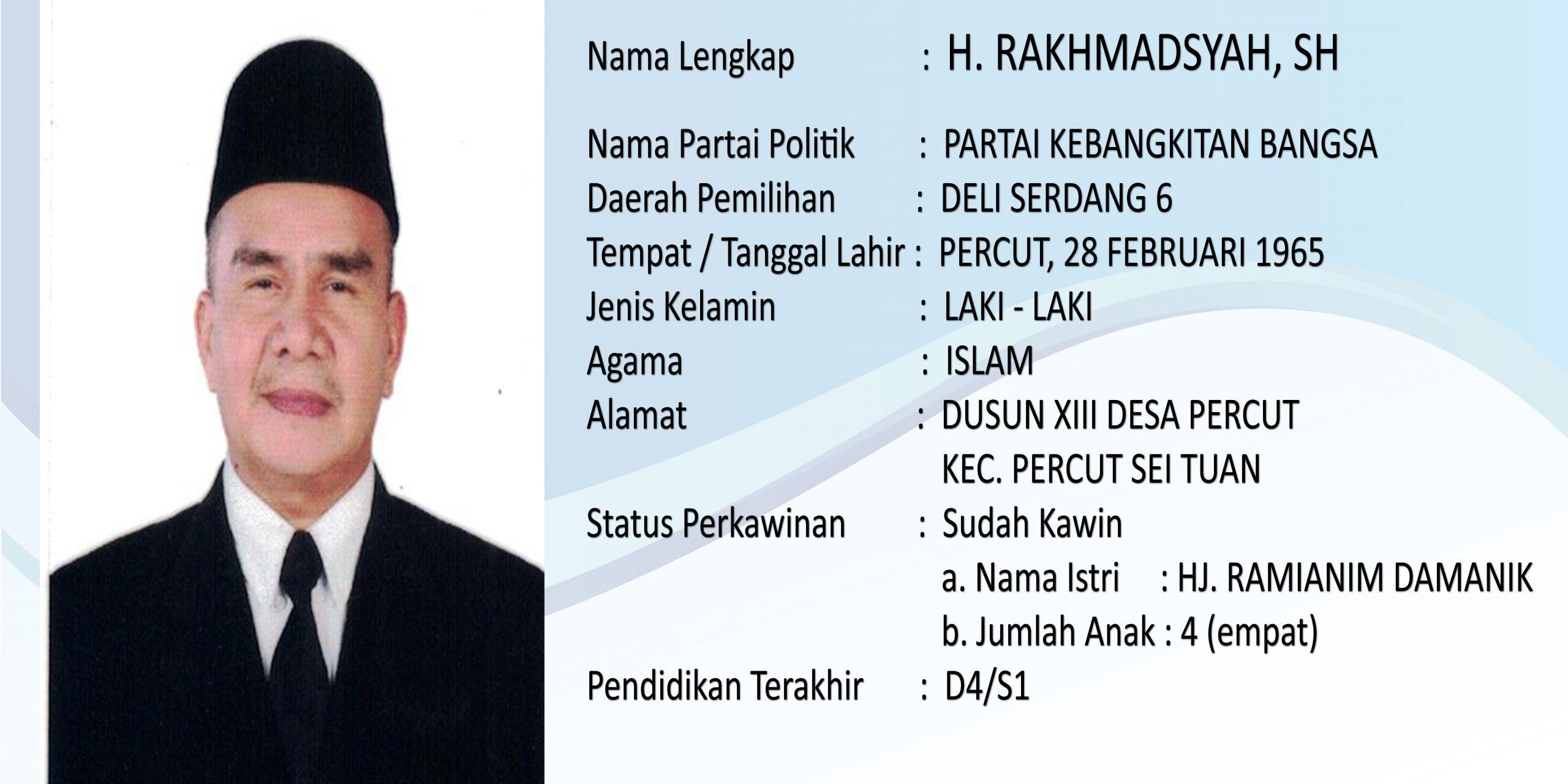 H. RAKHMADSYAH, SH
